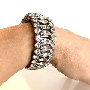 Vintage Mid-Century Expansion Rhinestone Bracelet
